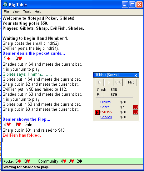 Notepad Poker 1.1 full